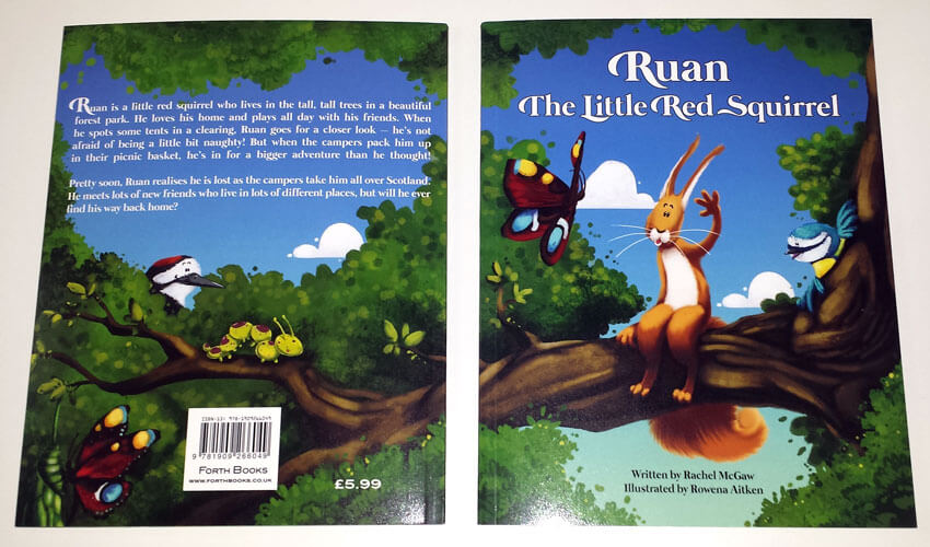 Ruan The Little Red Squirrel Book Book Layout