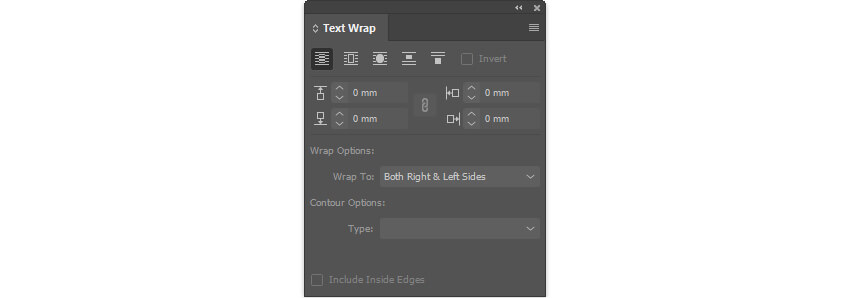 InDesign CC Book Layout - Text Wrap Settings