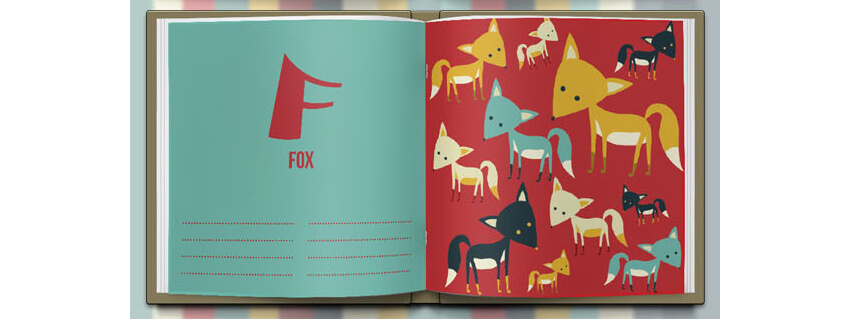 Alphabet Book Template by crew55design - Two Font Sample