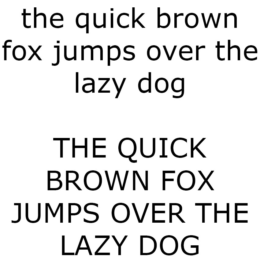 The Quick Brown Fox - Verdana Sample