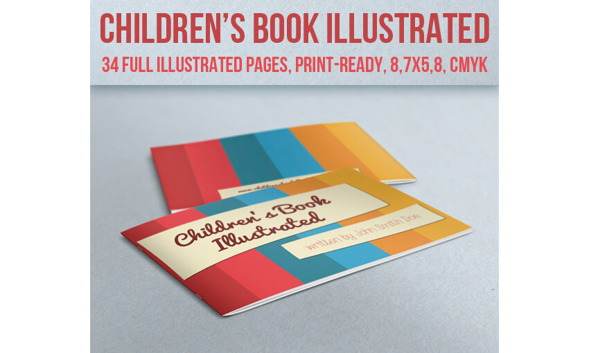 Book Layout Template - Childrens Book Illustrated