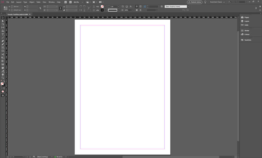 Adobe InDesign CC Book Format Template Blank