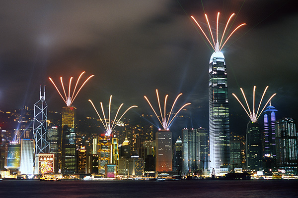 Hong Kong fireworks display