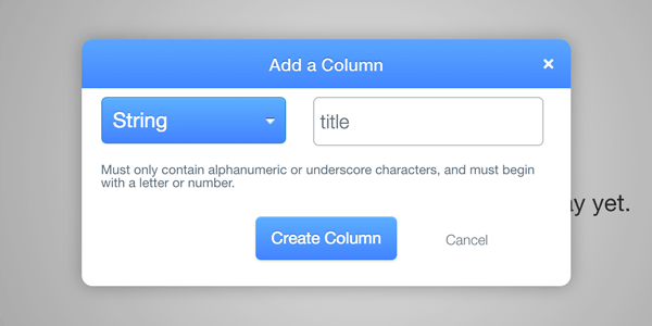 Add title column on Parse