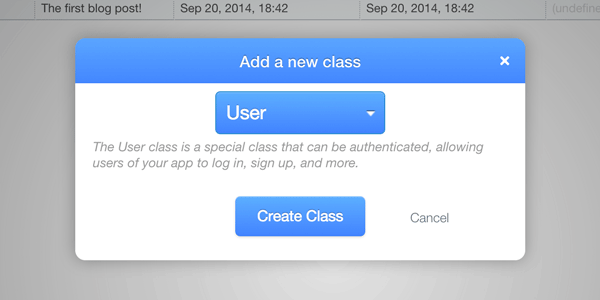 Add a User class