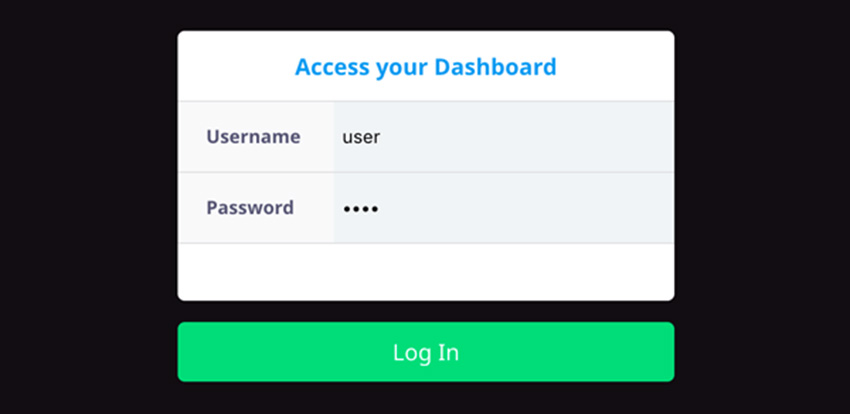 Local Parse Dashboard Login