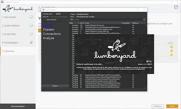 The Lumberyard Asset Processor