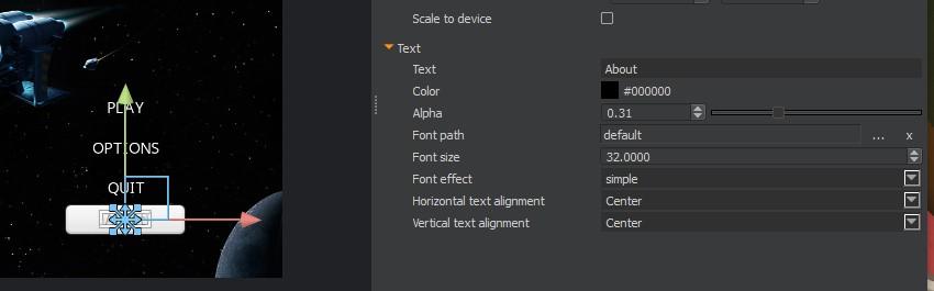 UI Canvas - Button properties
