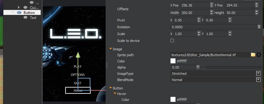 UI Editor - Button ImageType