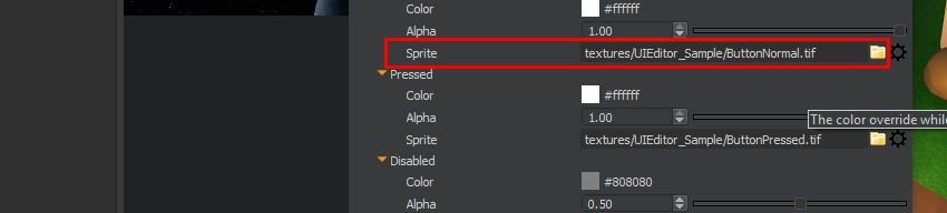UI Editor - Button Sprites