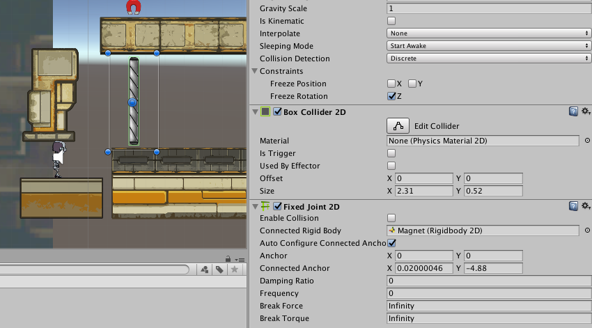 Unity 2D Joints: Distance, Hinge, Target, and Fixed Joints