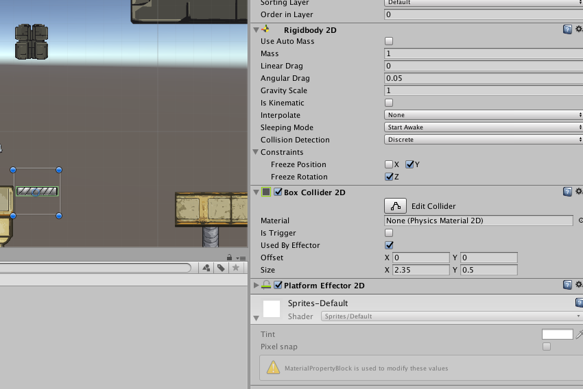 Unity 2D Joints: Slider, Relative, Spring, and Friction Joints