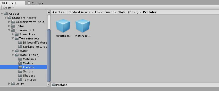 WaterBasic - Prefabs