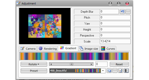 Gradient Editor Selection