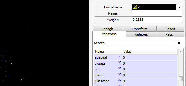 Adjusting Weight of Transform 2