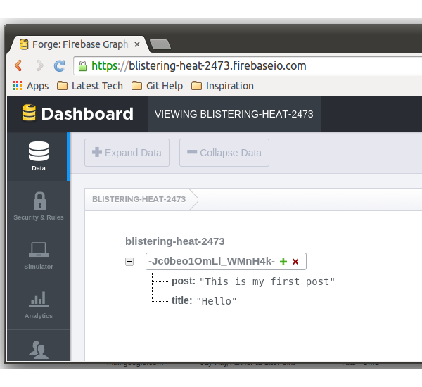 Add Post data in Firebase
