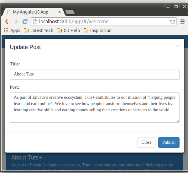 Creating A Web App From Scratch Using AngularJS And
