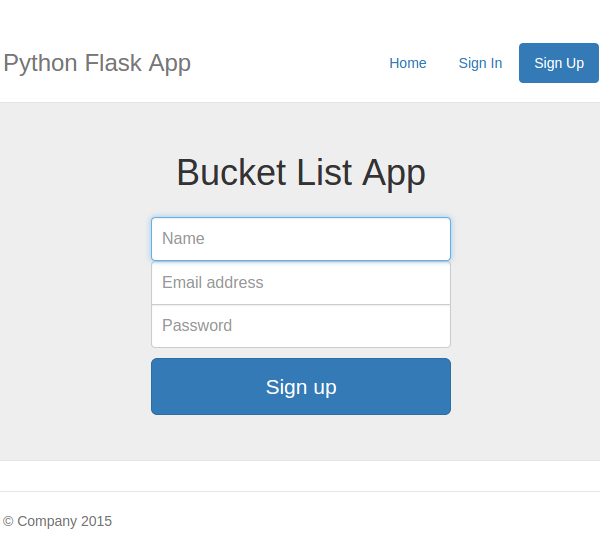 Creating a web app from scratch using python flask and mysql for Python email template