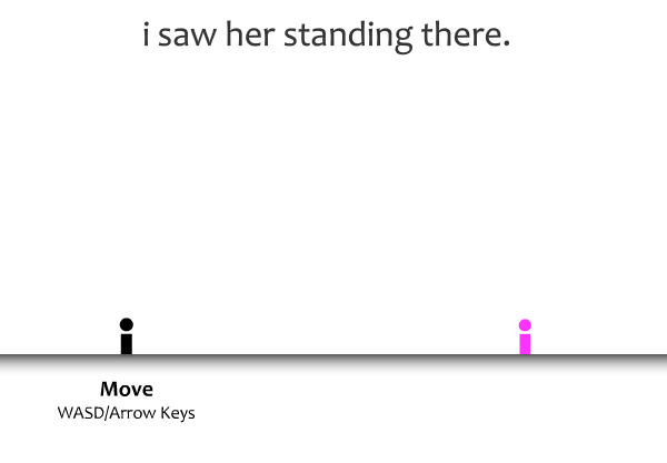 I saw her standing there gameplay image