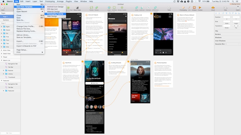 A Walkthrough of the Prototyping Tools in Sketch