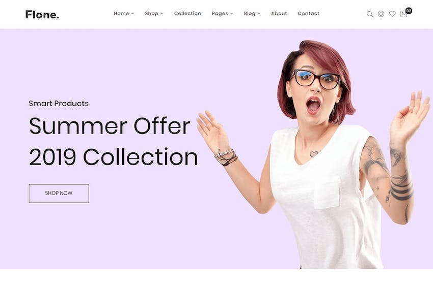 Flone - Minimalist eCommerce Bootstrap 4 Template