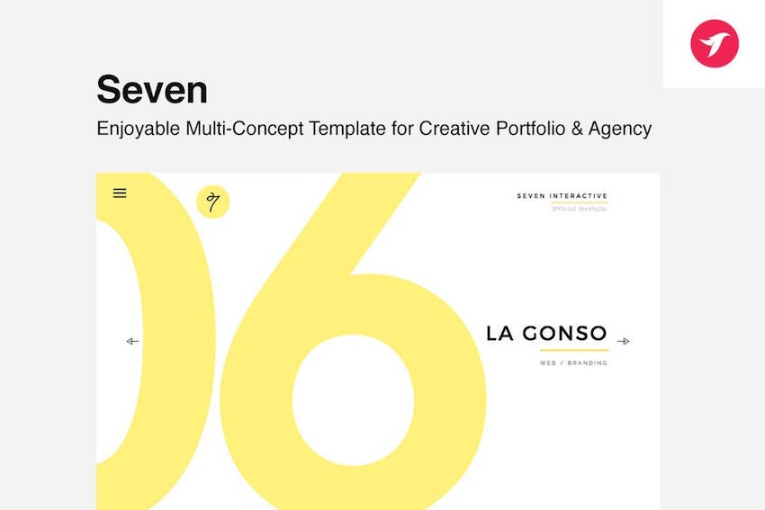 Seven - Portfolio Template for Creatives  Agency