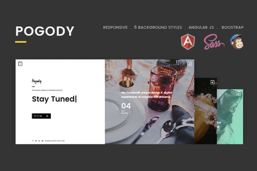 Pogody Responsive HTML5 Coming Soon Template