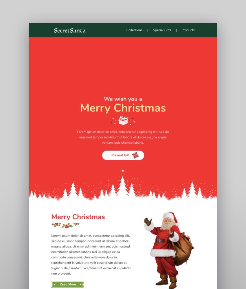 SecretSanta Email-Template  Online Builder