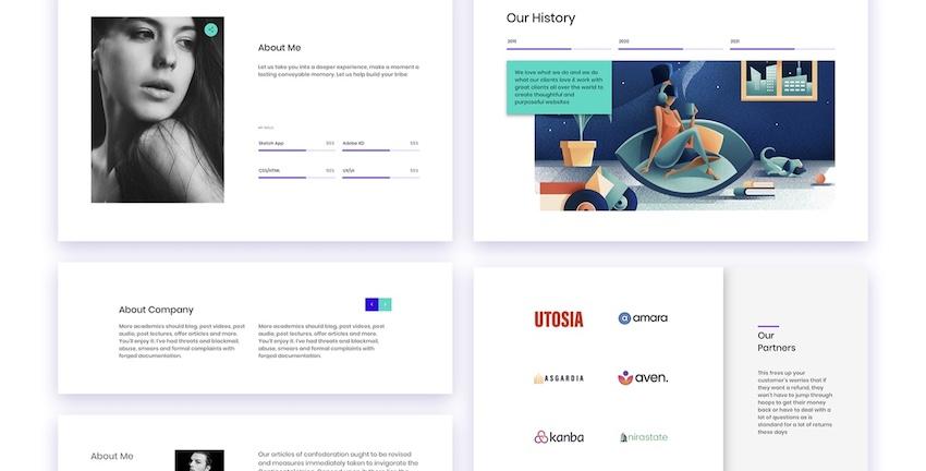 Ataman UI Kit - Templates For Website Adobe XD