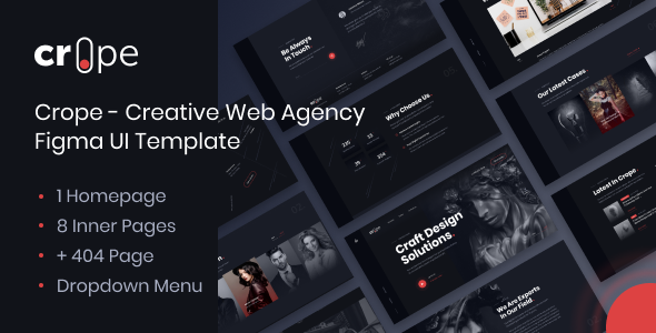 Crope - Creative Web Agency Figma UI Template