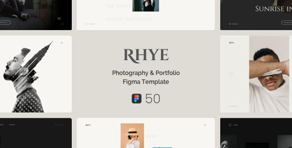Rhye  Photography  Portfolio Figma Template