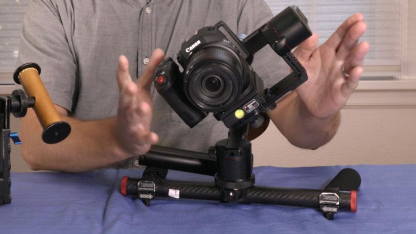 Balancing a camera on a gimbal