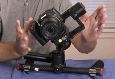 How to use a gimbal balancing thumb