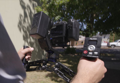 How to use a gimbal remote thumb