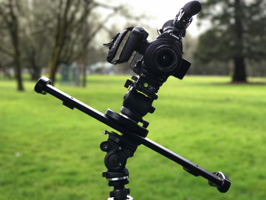 Camera and slider in diagonal slide position