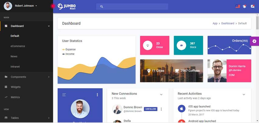 15 Best Modern JavaScript Admin Templates for React, Angular, and Vue js