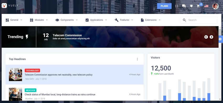 15 Best Modern JavaScript Admin Templates for React, Angular