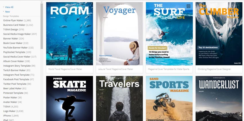 Magazine covers on Placeit