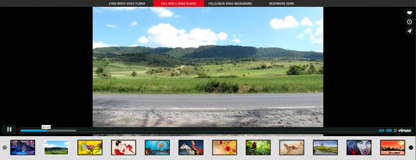 Fullscreen Video Background WordPress video plugin screenshot