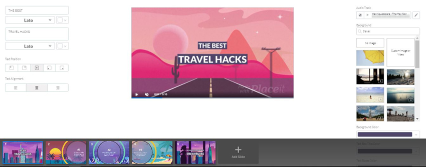 Placeit Travel Hacks Blog Post Teaser Video Template