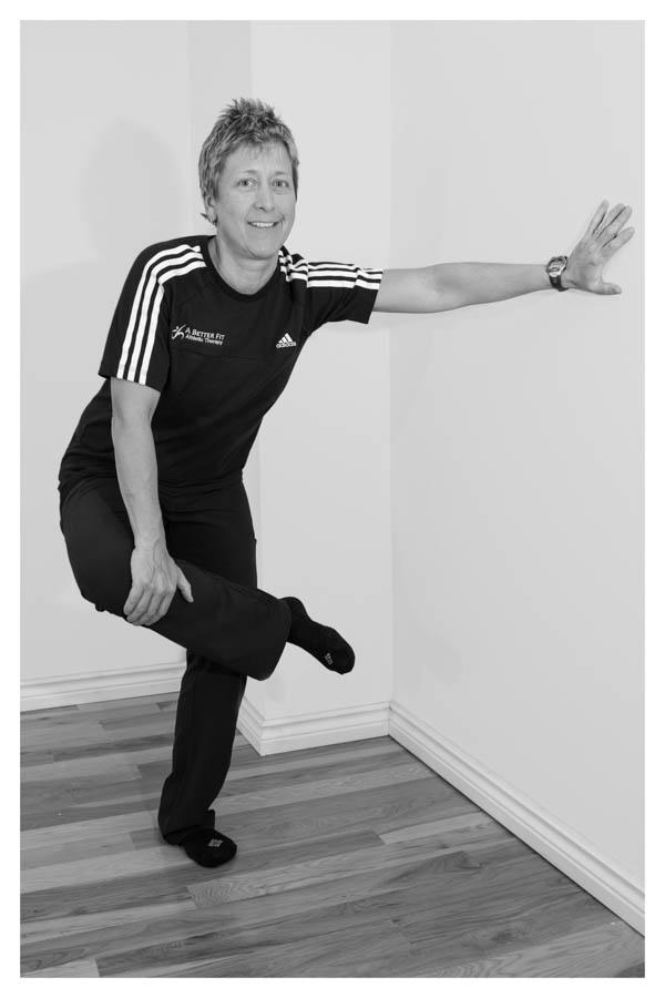 Standing Pretzel or Figure 4 Stretch