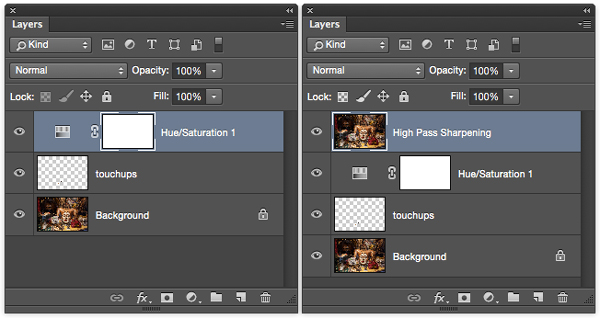 Create a copy of your final image in a new layer