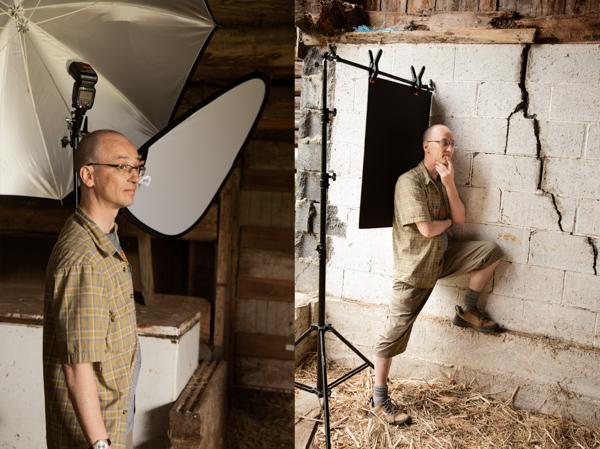 Photographers assistant on set
