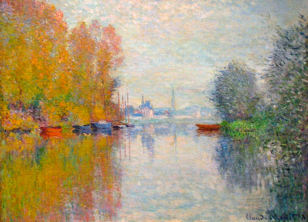 Impressionist painting of the Seine by Monet