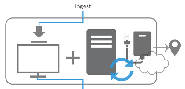 Diagram of ingest phase of digital asset management