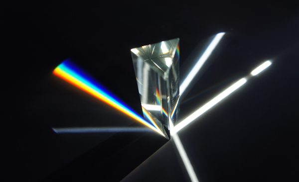 Light shining through a prism