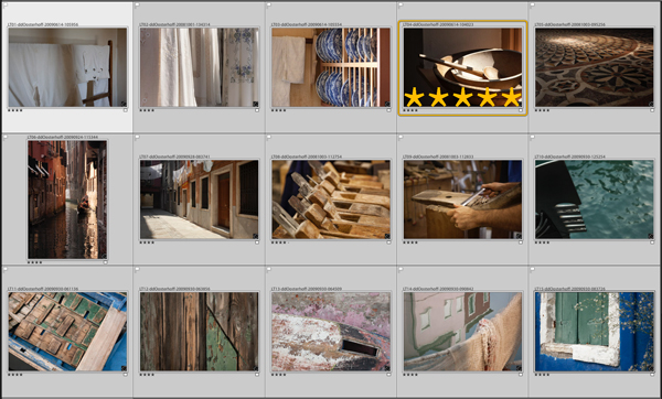 A grid of 4-star images showing one image worth 5-stars