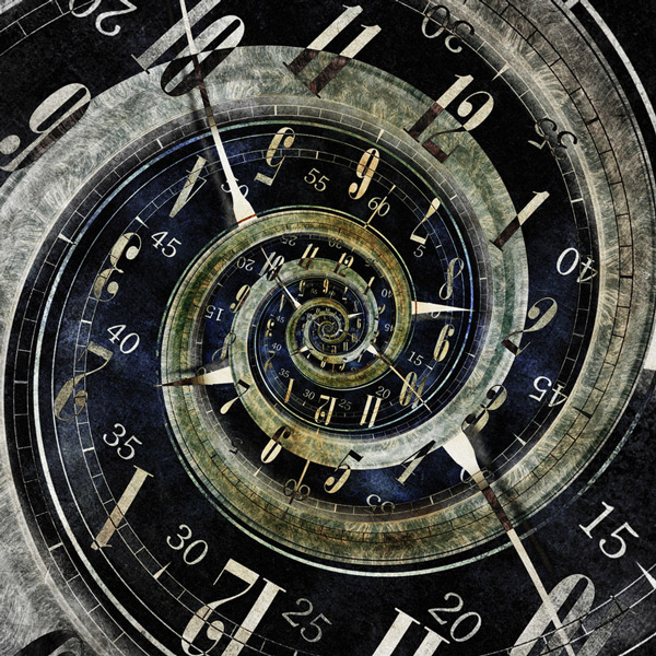A clock with many faces and times