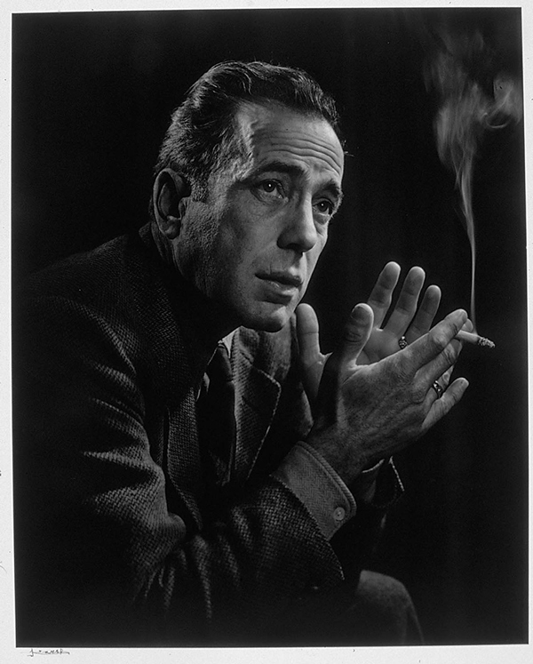 Portrait of Humphrey Bogart photographed by Yousuf Karsh