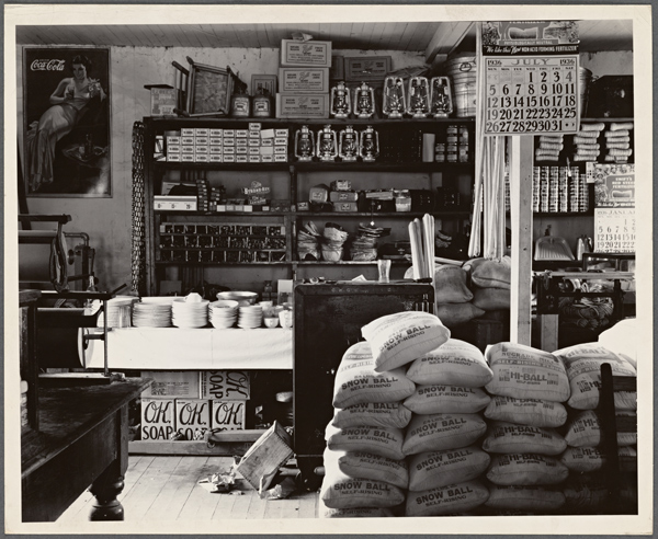 Walker Evans General Store Interior 1936